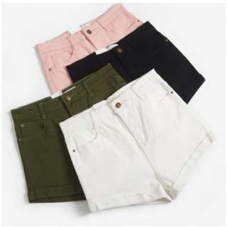 High Waisted Shorts in Baby Pink