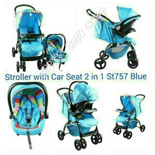2 in 1 baby stroller with carseat