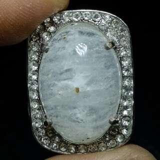 Cincin Batu Kecubung Es Rock Crystal Quartz