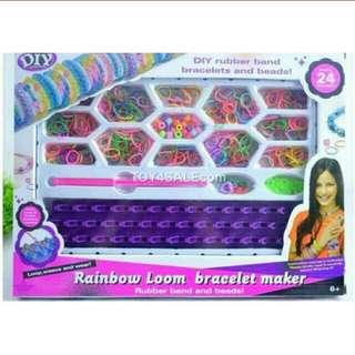 MAINAN anak gelang DIY aksesori Rainbow Loom