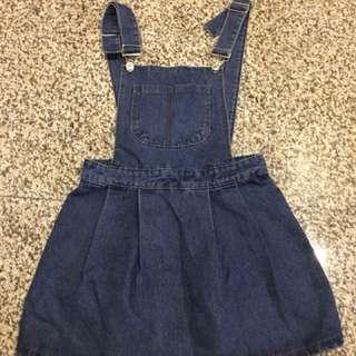 Denim Pinafore dress