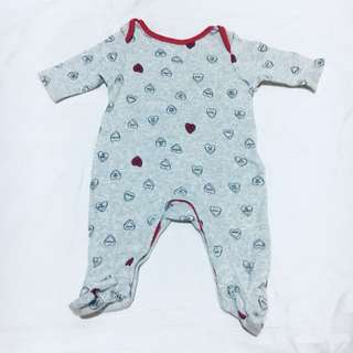 Old Navy Heart Print Footed Sleeper for Baby Girl