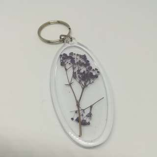 Purple plant keychain