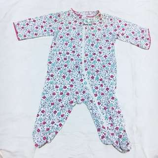 Carter's 1-pc Long Sleeve Footed Bodysuit