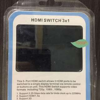 HDMI 3 Channel Switcher