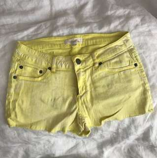 Forever 21 Yellow Shorts