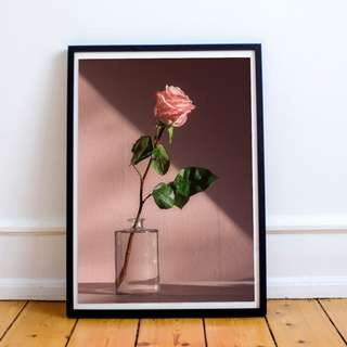 Rose in a Glass Digital Print / Poster, Inspirational, Motivational, Minimalist, Wall Decor