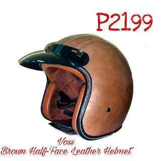 Voss Leather Helmet