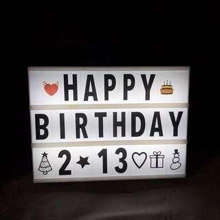 LED字母DIY拼圖燈箱(包字母,數字,表情公仔)見圖4