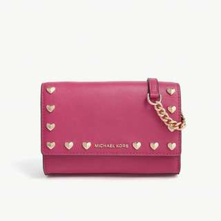 (三色)MICHAEL MICHAEL KORS Ruby leather clutch bag