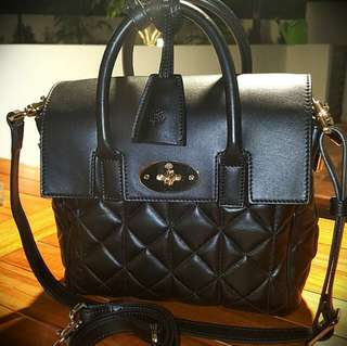 Mulberry Cara Delevingne Mini Quilted Leather Bag (Black)