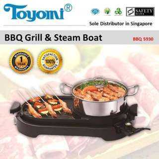 Toyomi Electric BBQ Grill & Steamboat
