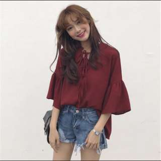 Instock red blouse