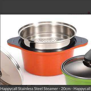 HAPPYCALL Stainless Steel Steamer 20cm (+pot option)