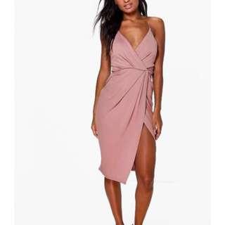 Never worn boohoo midi wrap dress #dressdeal