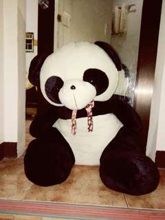 Big sitting panda stuffed toy