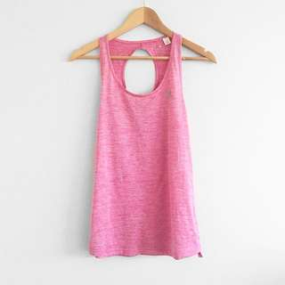 Adidas pink exercise singlet