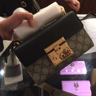 Gucci padlock mini size crossbody