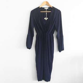 Fresh soul 2pc navy dress
