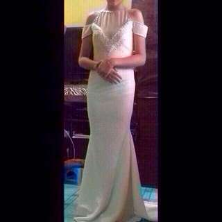 white long gown for rent