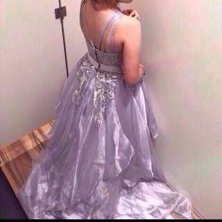 silver gown for rent