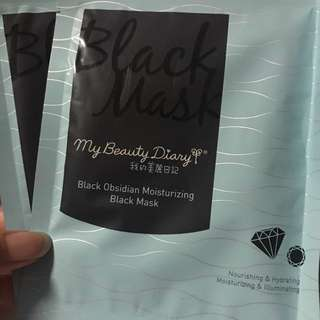 My beauty diary black obsidian moisturising black mask / My Beauty Diary Sheet Mask / 我的美人日记