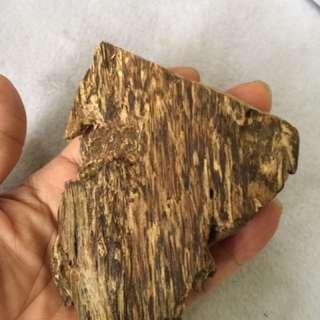 Agarwood。柬埔寨沉香原木半沉水。黑油。味道好。