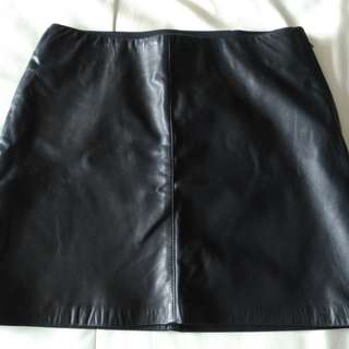 Danier leather mini skirt