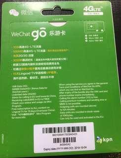 Wechat 15天歐洲無限數據卡