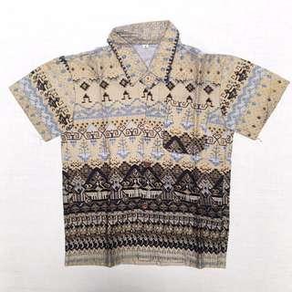 Baju Anak Kemeja Tenun (Boy Size 3-4 yo) #MakinTebel