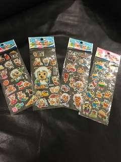 4 Sheets of Stickers - Happy Sheep 喜羊羊 etc.