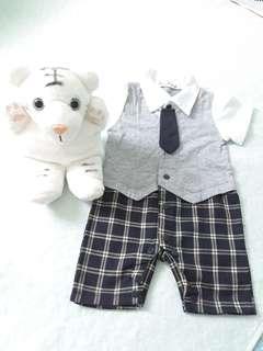 Baby Romper/Baby Onesie + Hand Puppet