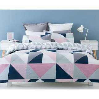 Reversible quilt cover set QUEEN