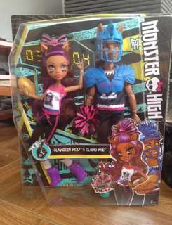 Barbie - Monster High Winning Werewolves Doll - Clawdeen Wolf and Clawd Wolf