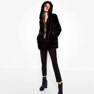 *PRICE DROP* ZARA fur hooded Jacket