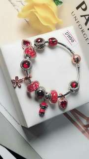 925 italian silver Pandora bangle with Charm