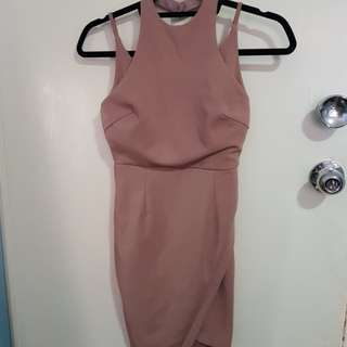 Pink bodycon mini dress - sz 8