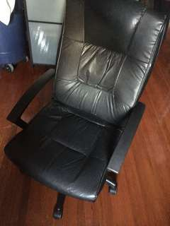 Office/computer black leather chair