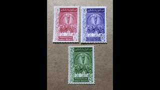 Malaya stamps mint very fresh gum  3v Set very light Mounted