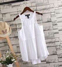 Sleeveless blouse Korean fashion