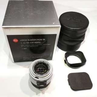 Leica Sumicron 35mm f2. ASPH. Silver chrome.