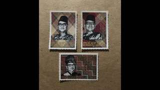 Malaya stamps mint very fresh gum  Tungku 3v Set MNH