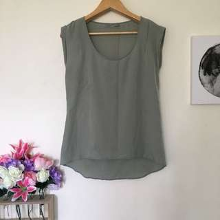 Just Jeans Army Green Sheer Top