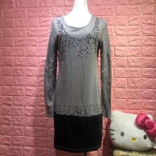 🚚 灰色造型洋裝