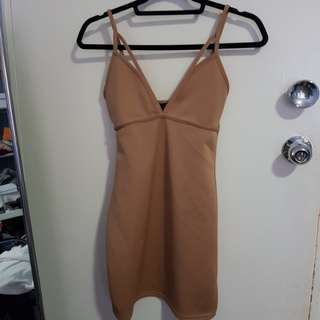 Tan dress sz 8