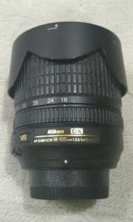 Nikon 18-105 mm VR len.