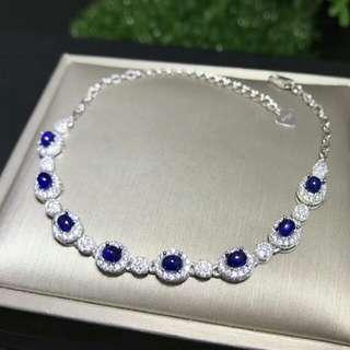 💎Natural Blue Sapphire Oval Gem Bracelet 💎