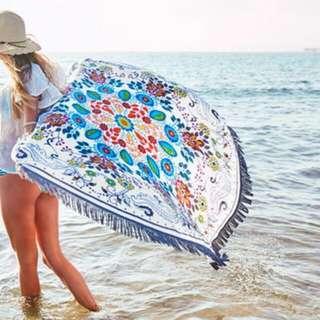 Summer Beach Towel Floral Design