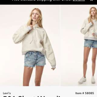 Aritzia Levis shorts