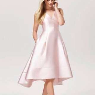 Forever New Lucy Hi Low Dress Pink